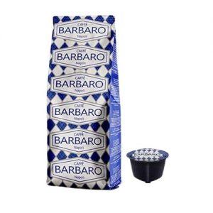 Cremoso di Caffè Barbaro dal gusto deciso e intenso come il vero espresso napoletano in confezioni da 10 capsule compatibili Dolce Gusto